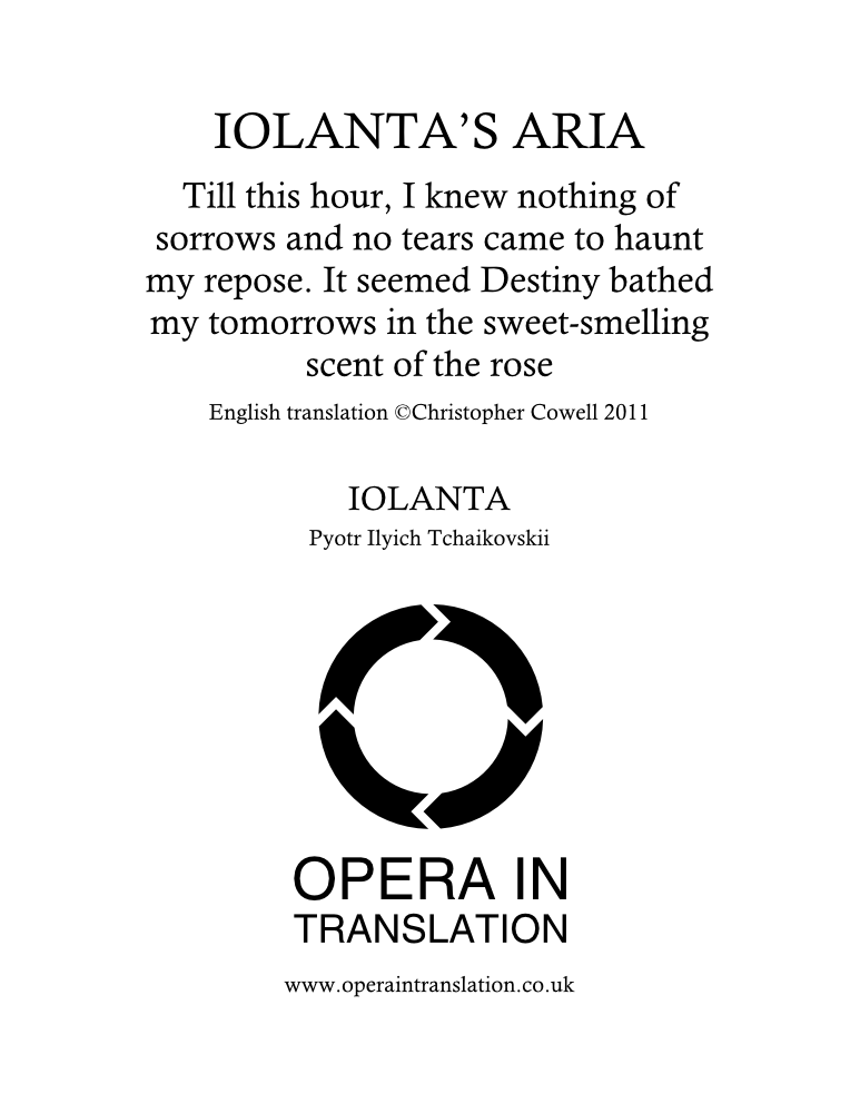 Iolanta's Aria_cover