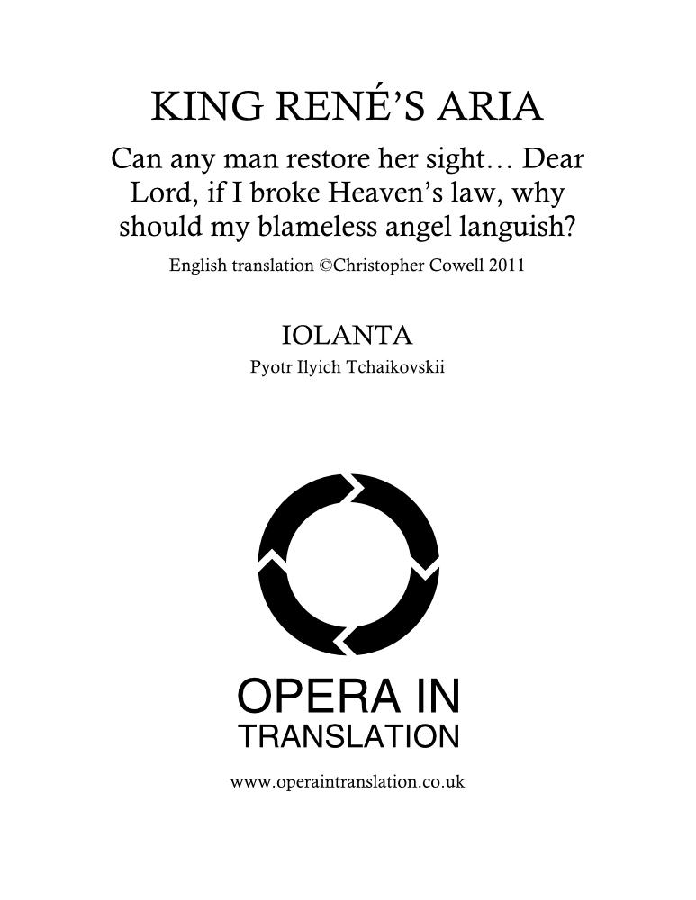 King Réné's aria_cover