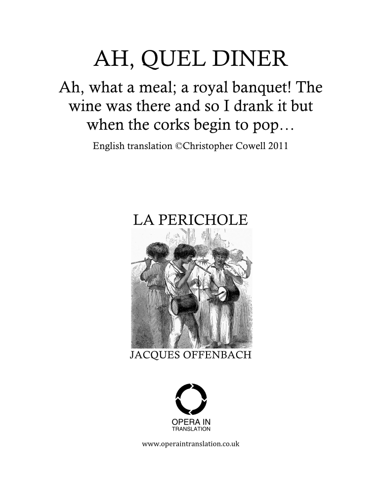 Ah, quel dîner (Air de Griserie)_cover