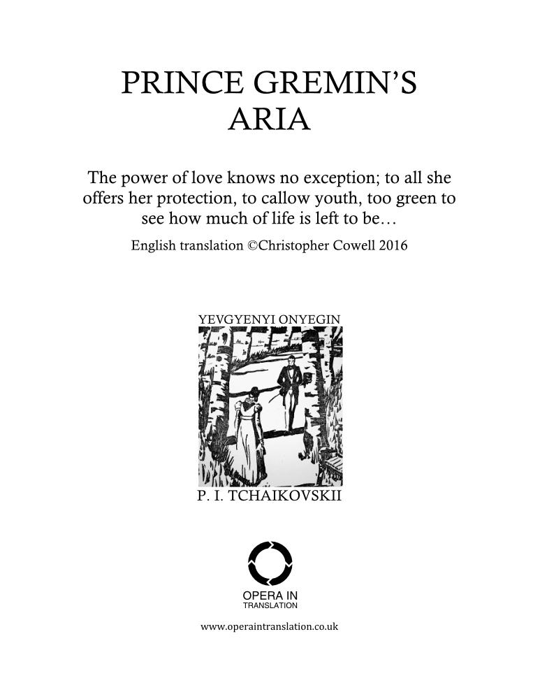 Gremin's aria_cover