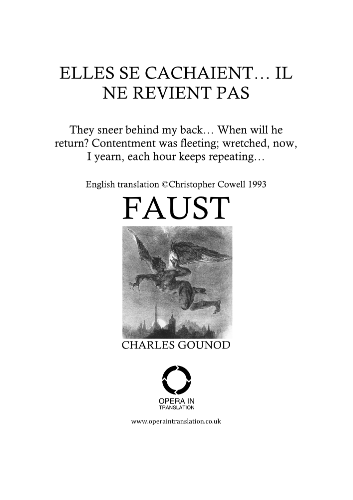 Il ne revient pas (Spinning song)_cover