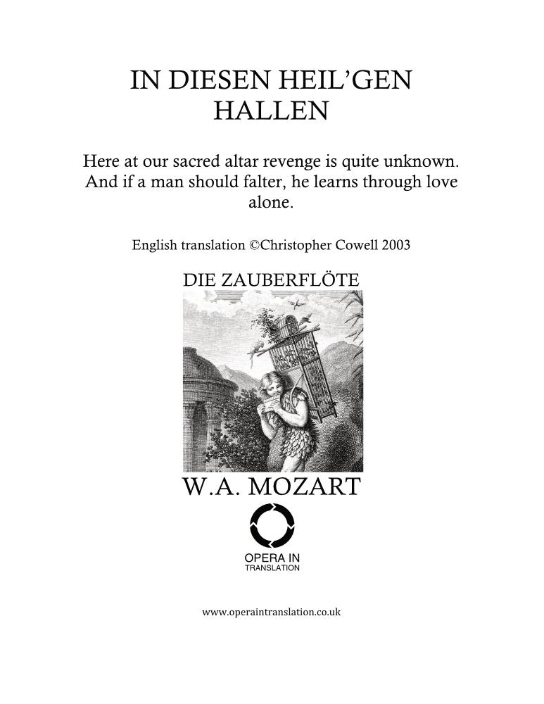In diesen heil'gen Hallen_cover