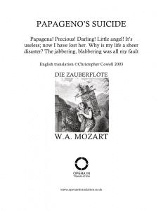Papageno: Papagena, Papagena! (Papageno's suicide)_cover